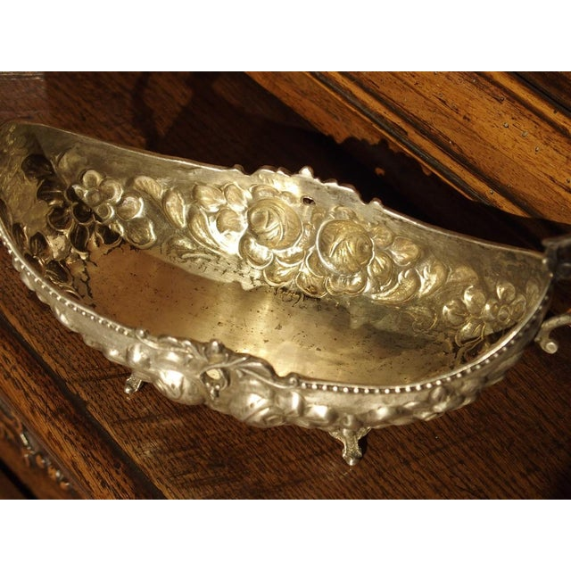 Metal Small Antique Silver Gondola Form Serving Bowl From Germany, Circa 1900 For Sale - Image 7 of 13