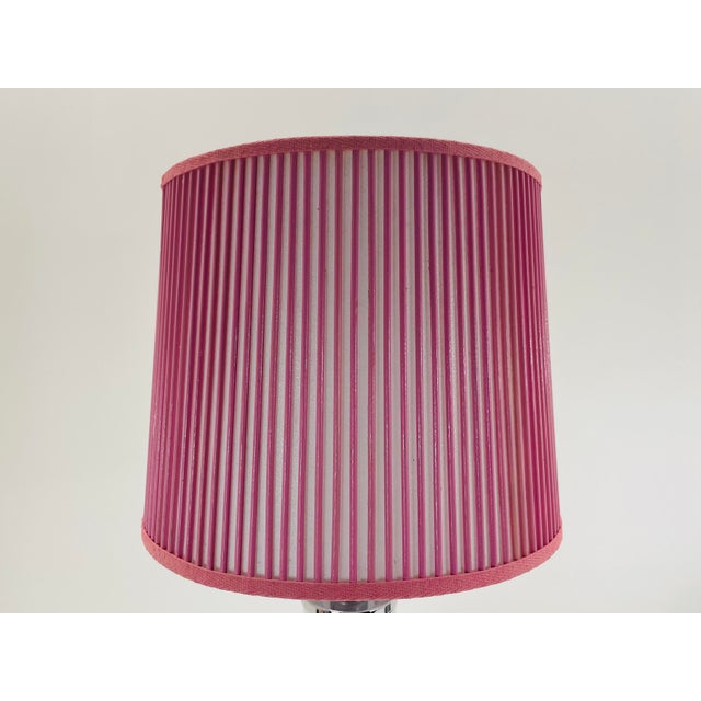 """Retro Drum Stick Shade in Solid Pink, 12"""" For Sale - Image 4 of 4"""