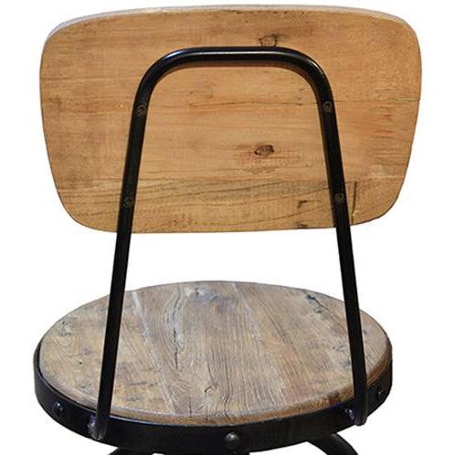 Reclaimed Wood & Iron Barstool - Image 4 of 4