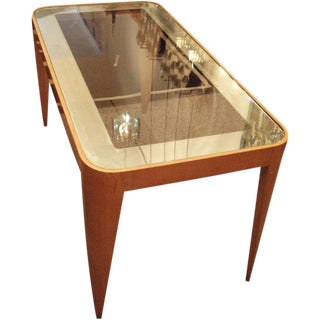 Gio Ponti Rectangular Glass and Mirror Topped Cocktail Table Italy circa 1937 For Sale