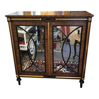 Hollywood Regency Style Wood Cabinet For Sale
