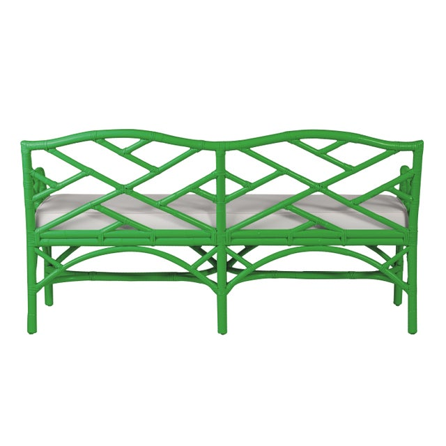 Chippendale Chippendale Bench - Bright Green For Sale - Image 3 of 6