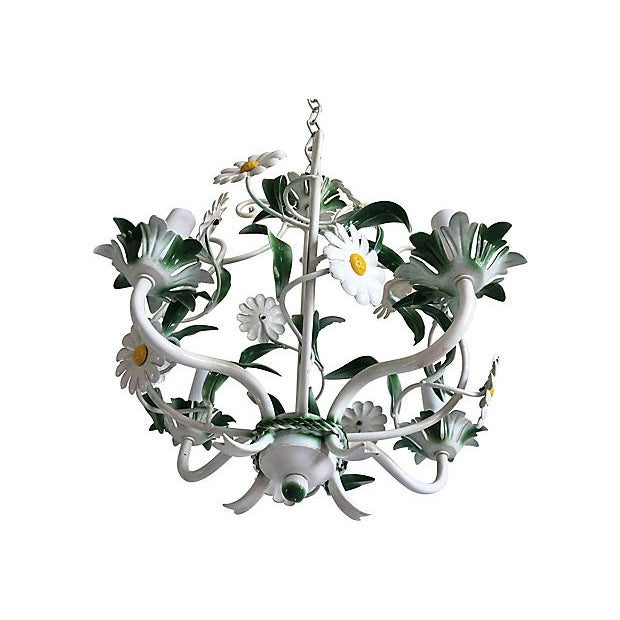 1950s Italian Daisies Chandelier For Sale In Austin - Image 6 of 8