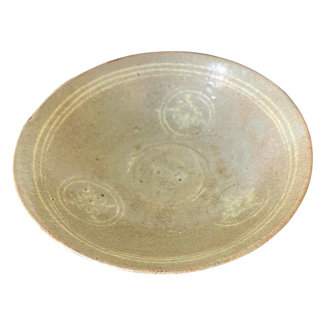 Korean Ceramic Celadon Bowl with Slip Inlay Goryeo Dynasty For Sale - Image 11 of 11