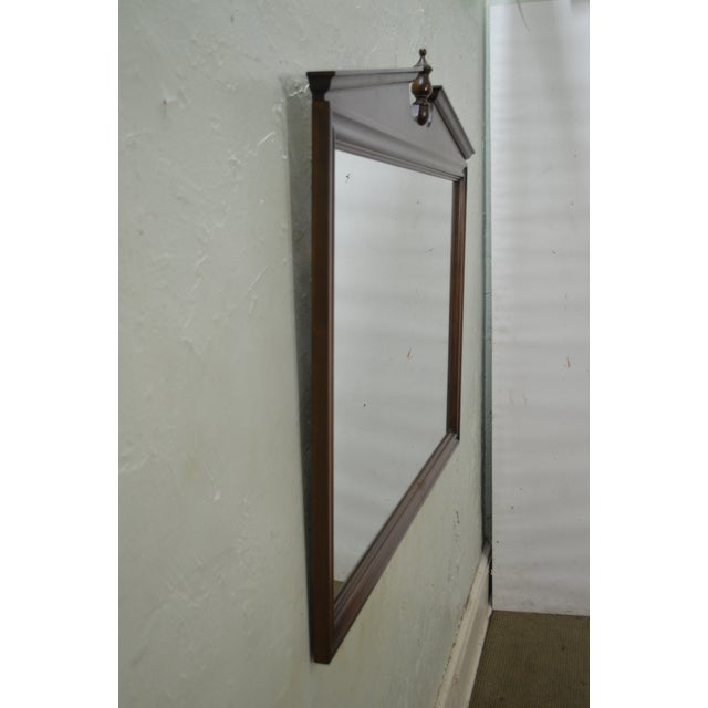 Ethan Allen Vintage Maple Hanging Wall Mirror For Sale - Image 10 of 10