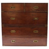 Image of 19th Century English Campaign Chest For Sale