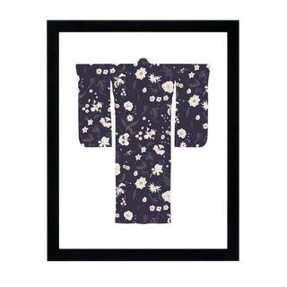 """""""Kimono-Currant Black"""" Framed Wall Art"""