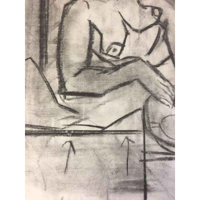 1950s Charcoal Female Lounging For Sale - Image 4 of 7