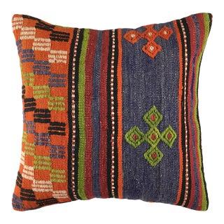 "Vintage Stripe Kilim Pillow | 20"" For Sale"