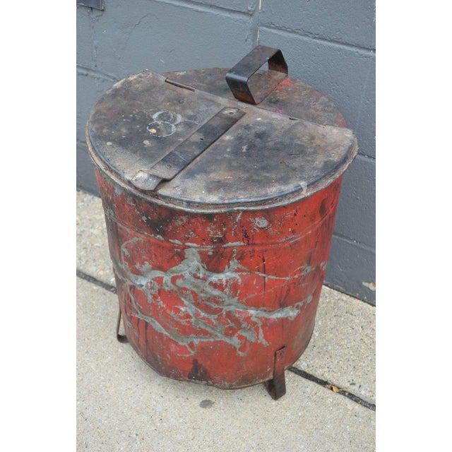 Industrial Rag Bin with Hinged Lid - Image 3 of 10