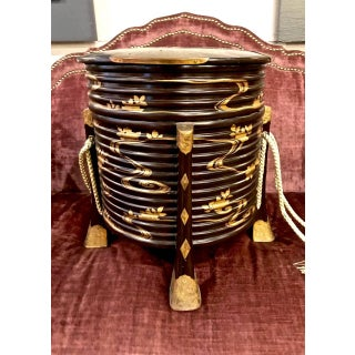 Japanese Lacquer Hatbox, Meiji Period