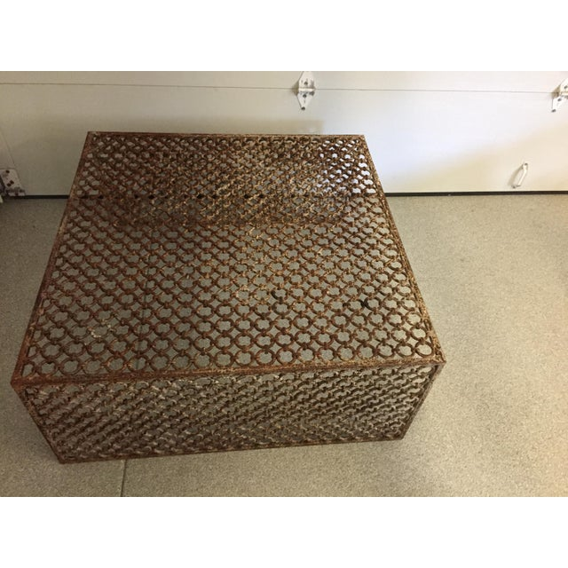 Rusted Iron Chain Link Coffee Table - Image 6 of 6
