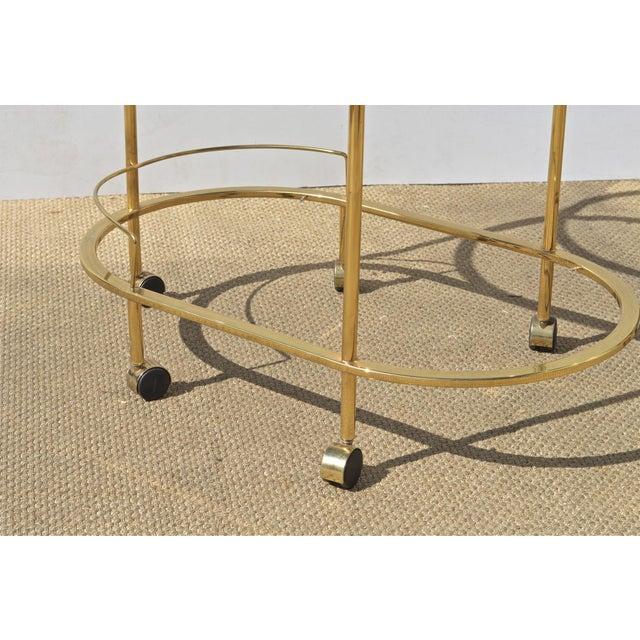 Brass & Glass Bar Cart - Image 9 of 9