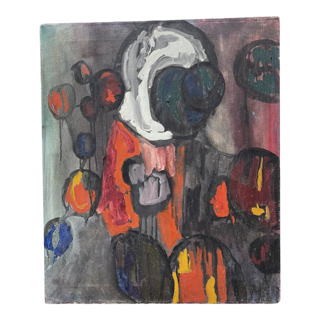 1960s Abstract Figurative Oil Painting For Sale