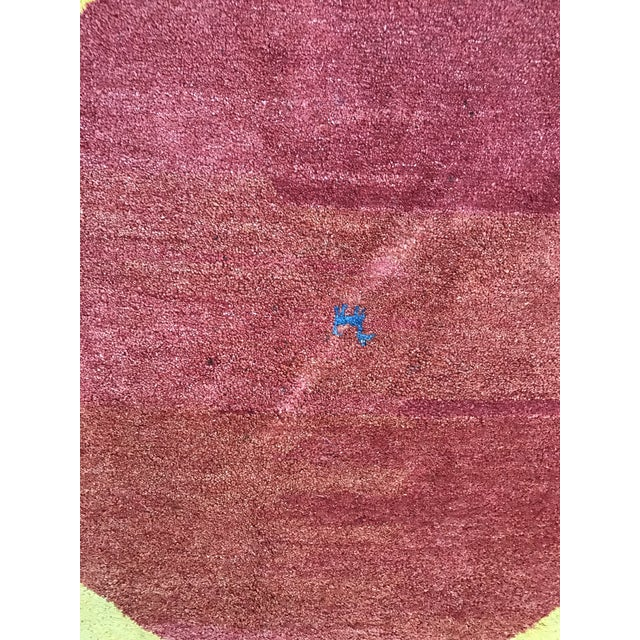 "Vintage Wool Safavieh Rug - 4'11"" x 4'11"" For Sale - Image 4 of 7"
