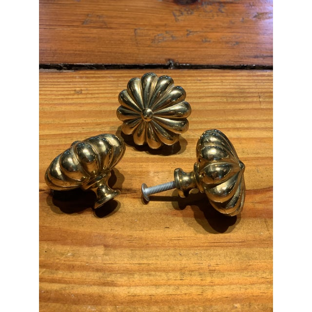 Sherle Wagner solid brass scalloped knobs add traditional glamour to your bath, bedroom, library cabinets, or bar! Heavy...