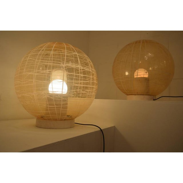 La Murrina Pair of Large Murano Floor Lamps by La Murina on a Travertine Base For Sale - Image 4 of 10