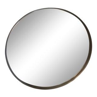 Vintage Industrial Round Mirror