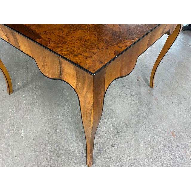 1970s Stunning Oyster Olivewood Burl Table, Made in Italy For Sale - Image 10 of 13