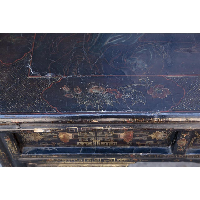 Antique Chinese Black Lacquer Table For Sale - Image 4 of 11