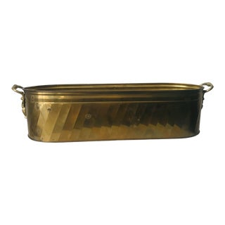 Vintage Federal Style Brass Container With Eagle Handles For Sale