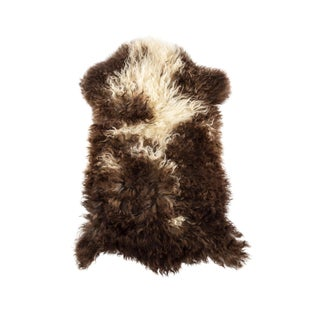 "Contemporary Natural Wool Sheepskin Pelt - 2'0""x3'0"" For Sale"