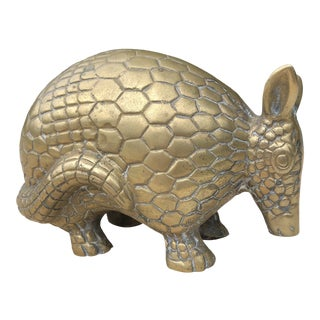 Vintage Sergio Bustamante Style Solid Brass Armadillo For Sale
