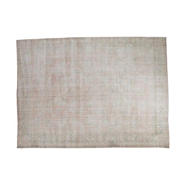 "Distressed Oushak Carpet - 9' X 12'1"" - Image 1 of 10"