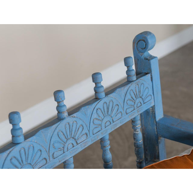 Antique French Painted Bench circa 1890 For Sale - Image 9 of 9