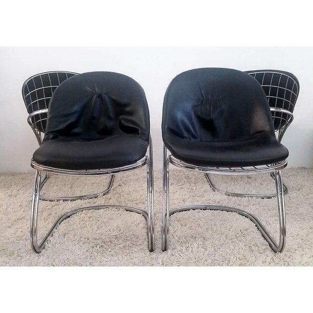 Italian Gastone Rinaldi Chrome Dining Chairs - Set of 4 For Sale - Image 3 of 7