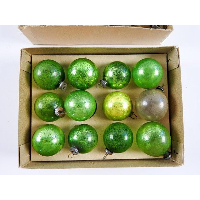 vintage mini green silver christmas ornaments set of 24 for sale image 4 - Green And Silver Christmas Decorations