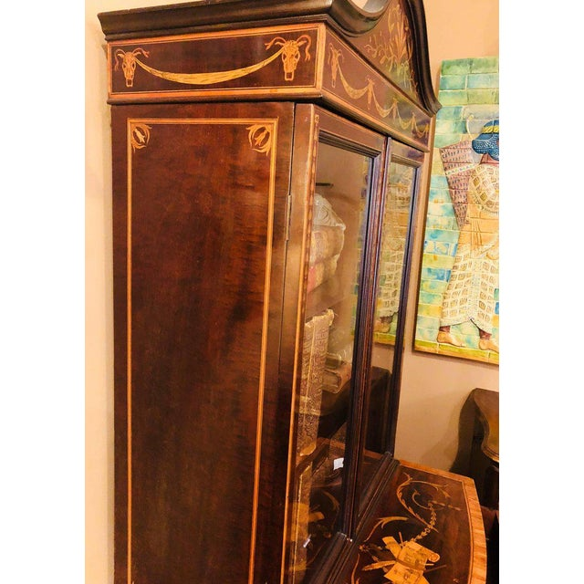 19th-Early 20th Century Edwardian Adams Inlaid Secretary Bookcase For Sale - Image 5 of 11