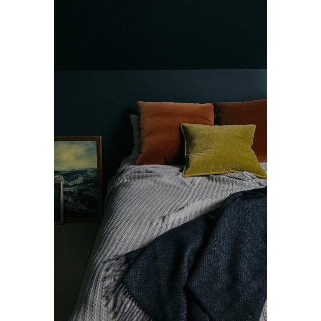 Contemporary Cableknit Blanket in Grey, Twin For Sale - Image 3 of 10