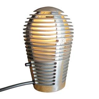 Vintage Cast Aluminum Louvered Accent Light For Sale