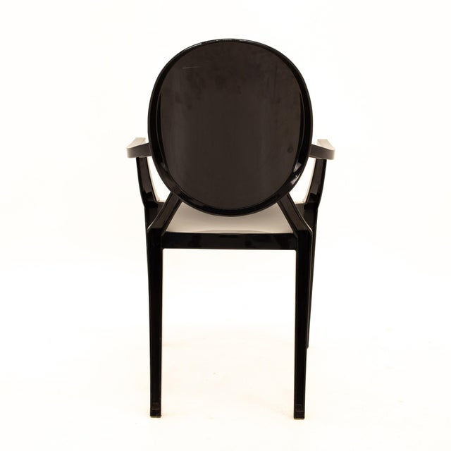 Acrylic Kartell Mid Century Black Acrylic Ghost Dining Chairs - Set of 4 For Sale - Image 7 of 11