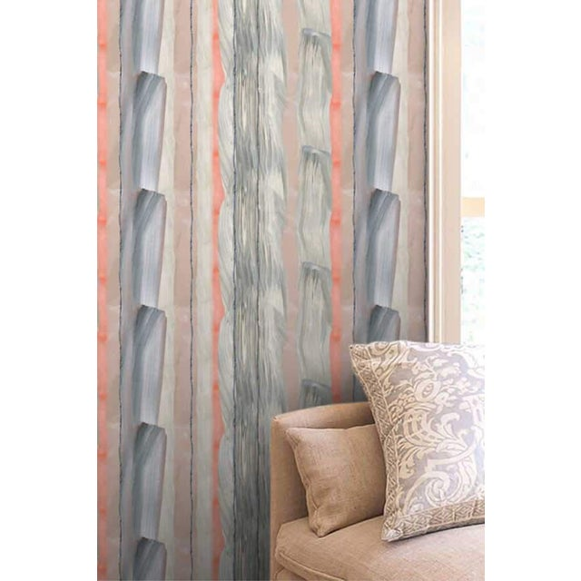 Gray Peach Marble Stripe Wallpaper For Sale - Image 8 of 10