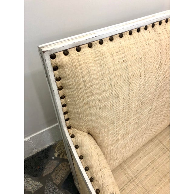 Fabric Oly Studio Tobias Upholstered in Raffia Chairs - a Pair For Sale - Image 7 of 9