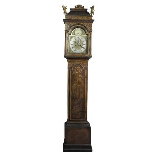 George III Japanned Tall Case Clock by William Harvey For Sale