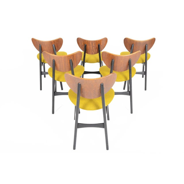 G Plan Librenza Chartreuse Dining Chairs - Set of 6 - Image 3 of 10