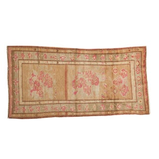 "Vintage Oushak Rug - 4' x 7'6"" For Sale"