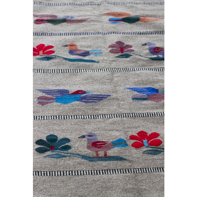 "Mexican Gray Wool Rug - 2'6"" X 4'11"" - Image 3 of 7"