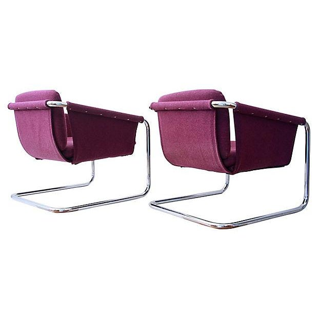 1980s Postmodern Cantilevered Chairs - A Pair - Image 2 of 10