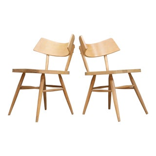 1950s Edmond Spence Swedish Origami Bat Wing Accent Chairs Pair of Architects For Sale