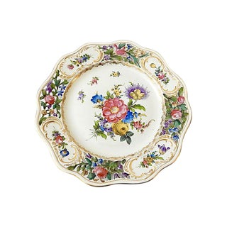 19th-C. Dresden Cabinet Plate