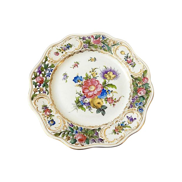 19th-C. Dresden Cabinet Plate - Image 1 of 7