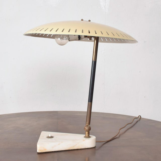 Mid-Century Modern Midcentury Italian Table Lamp Desk Light Sarfatti Arteluce Stilnovo 1950s For Sale - Image 3 of 11