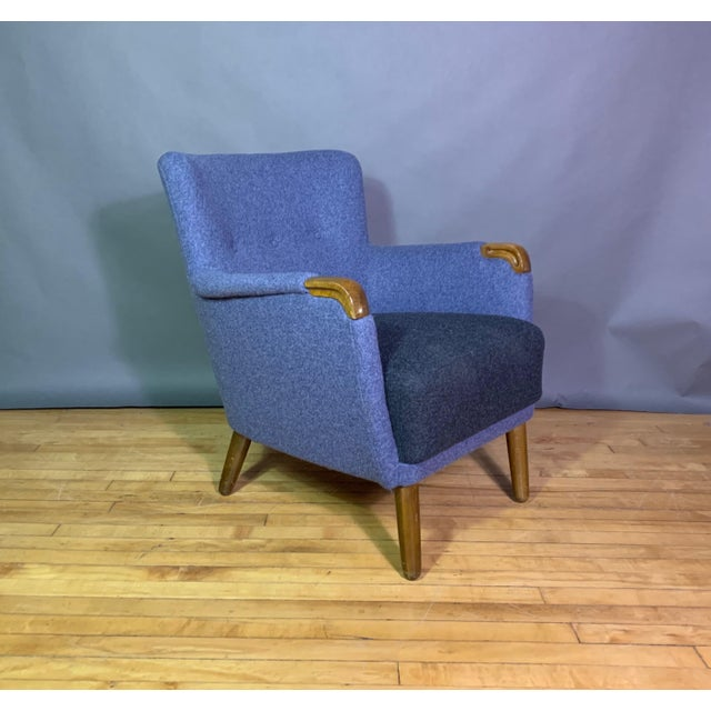 1950s Danish Armchair, New Kvadrat Felted Wool Upholstery For Sale - Image 11 of 11