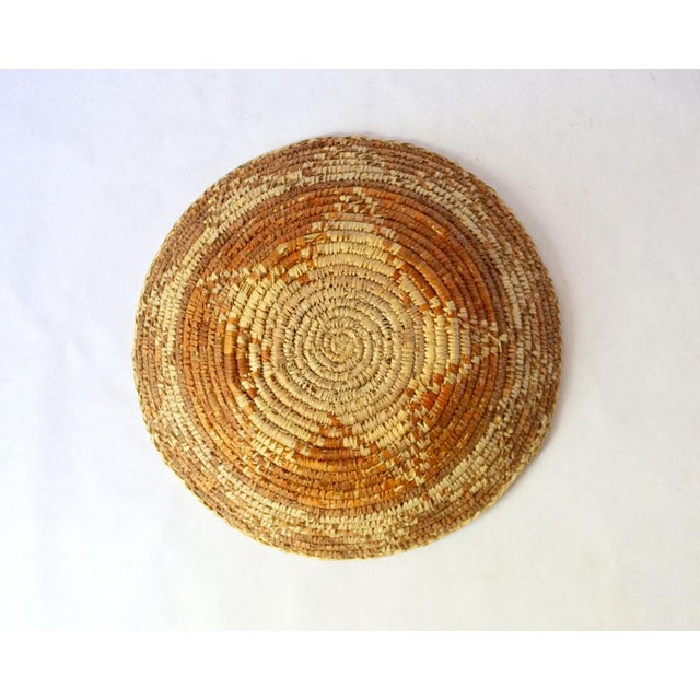Boho Chic Vintage Mid-Century Woven Basket For Sale - Image 3 of 5