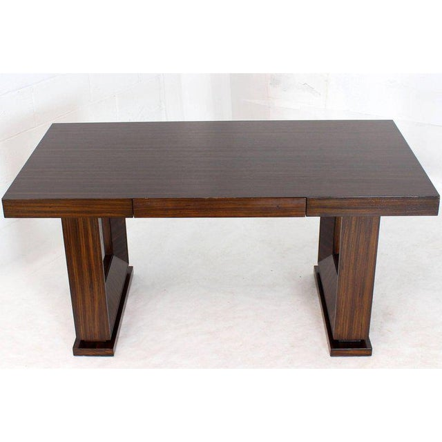 Square Frame Legs Rosewood Mid-Century Modern Writing Table Desk For Sale - Image 9 of 9
