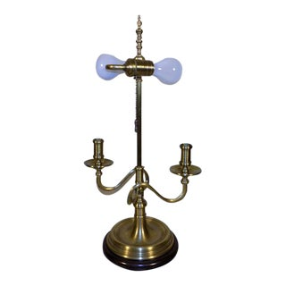 Wildwood Lamp Co. Brass Double Candle Holder Table Bouillotte Style Lamp For Sale